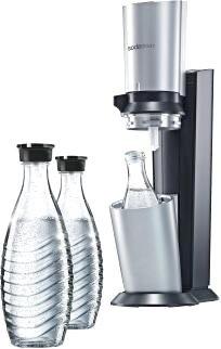 eBay WoW: SODASTREAM Wassersprudler Crystal Titan +CO2-ZYLINDER+ 1 X 0,6L GLASKARAFFE @ 89,90 Euro inkl. Versand