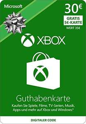 [amazon.de] 30€ Xbox Live Guthaben + 5€ Guthaben geschenkt