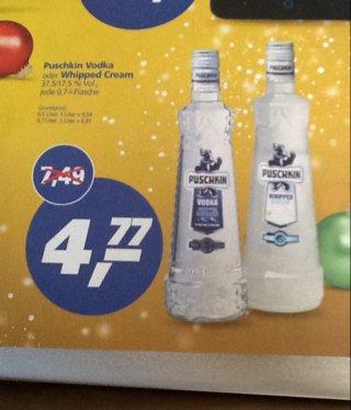 Real Sankt Augustin ( ggf. Bundesweit): Puschkin Vodka oder Whipped Cream für 4,77 € statt 7,49 €
