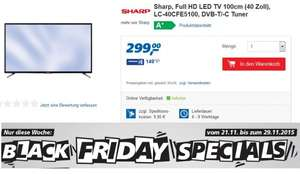 [ Real online & offline] Sharp, Full HD LED TV 100cm (40 Zoll), LC-40CFE5100 (Black Friday Special)