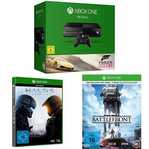 Xbox One 500GB Forza Horizon 2+ Halo 5+ Battlefront für 369€ @Amazon.de