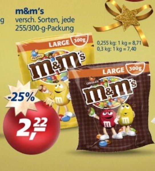 [REAL] Am 28.11. m&m's 255 bzw. 300 g Packung für 2,00 € durch 10% Rabatt