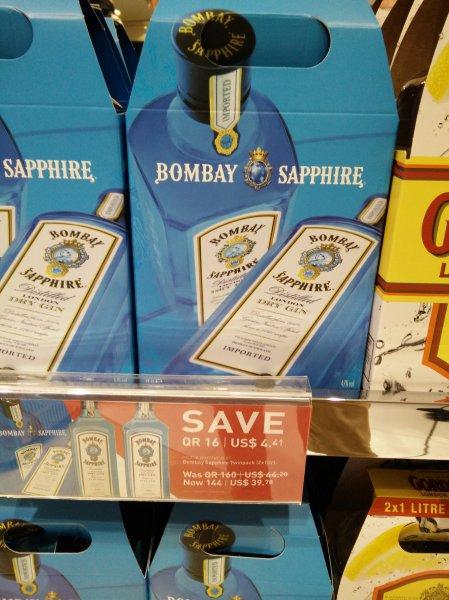 [Doha Katar] Lokal - Bombay Saphire 1l 47%