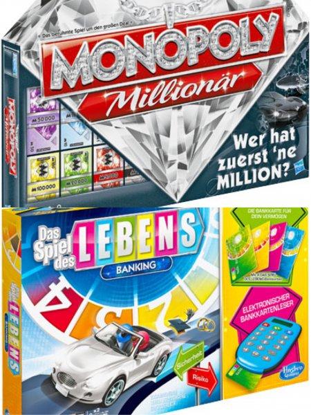 12,99€ Hasbro Monopoly Millionär oder Spiel des Lebens Banking [Kaufland] ab 30.11