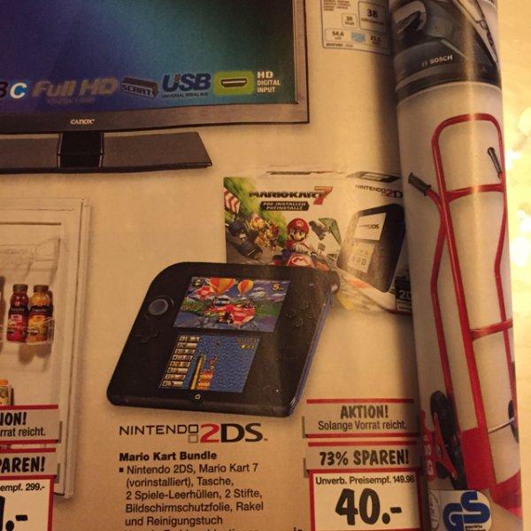 Lokal KH evtl.Nintendo 2DS Mario Kart Bundle 40 EUR