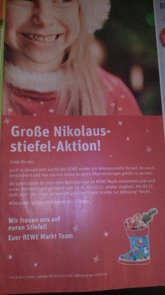 [REWE] gratis Nikolausstiefel