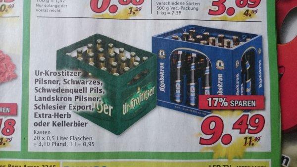 Verschiedene Biersorten bei Marktkauf