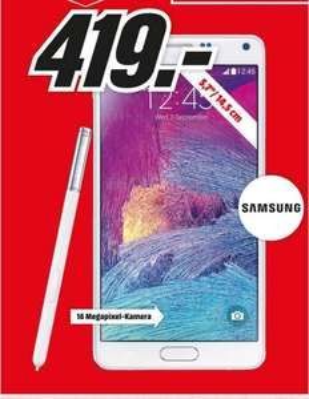 (Lokal) Samsung Galaxy Note 4 für 419€ @ Mediamarkt Neuss