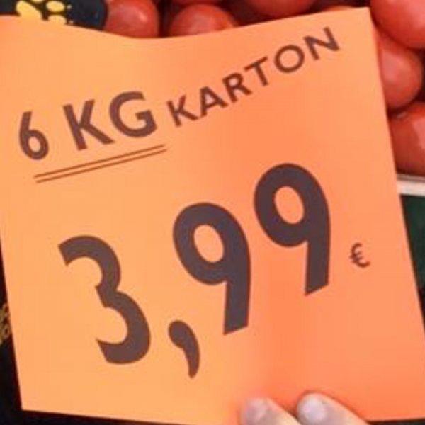 6 kg Tomaten aus Spanien für 3,99€ | Wiva Lebensmittel Bielefeld