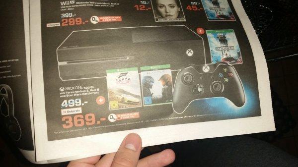 Xbox One (500 GB) + Forza + Battlefront + Halo