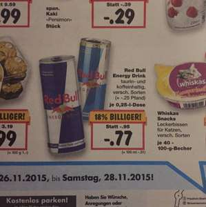 [Kaufland in Solingen] Red Bull 0,77€/Dose