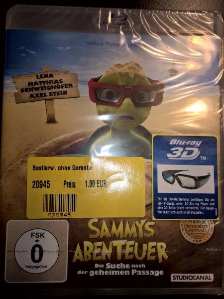 Sammys Abenteuer-Die Suche nach der geheimen Passage 3D Blu-Ray für 1€ bei Conrad lokal Wernberg/Köblitz