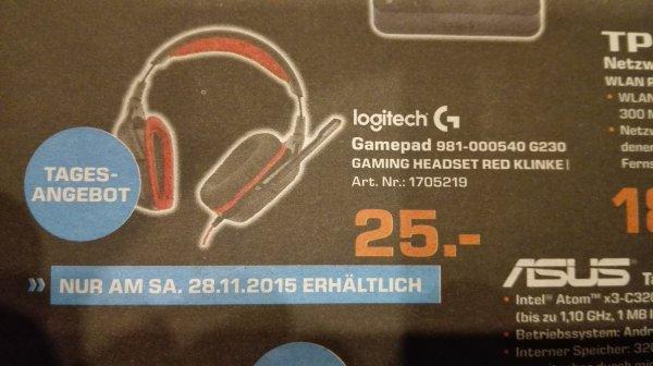 LOGITECH G230 GAMING HEADSET RED KLINKE (lokal MG)
