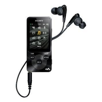 MP3 Player: SONY NWZ-E 585 B, Audio/Video Player, 16 GB, Akkulaufzeit: 77 Std., Schwarz