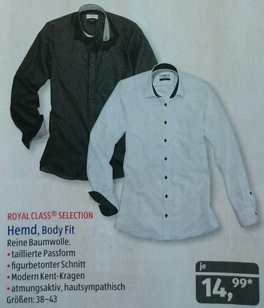 [ALDI SÜD] Ab 7.12. Royal Class Selection Body Fit Hemden für 14,99