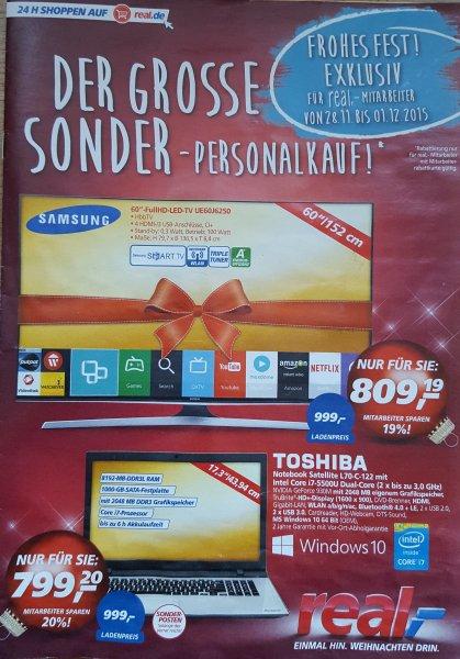 Samsung UE60J6250 (nur für diejenigen die einen Real-Mitarbeiter kennen:-) )