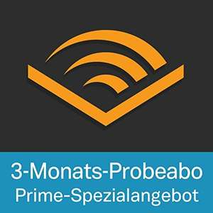 Audible - 3 Monate gratis für Amazon Prime Kunden