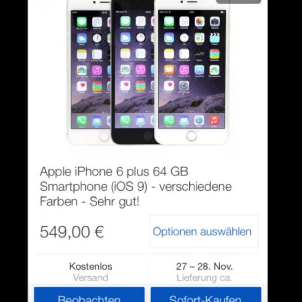 [ebay Wow] Apple iPhone 6 Plus 64gb