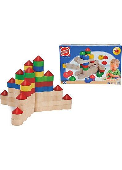 """HEROS Kettenbausteine """"Burg"""", 44-teilig, mit bunten Bausteinen, sehr günstig!"""