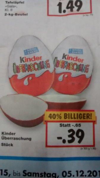 Ü-Ei für 39 Cent @Kaufland bundesweit!
