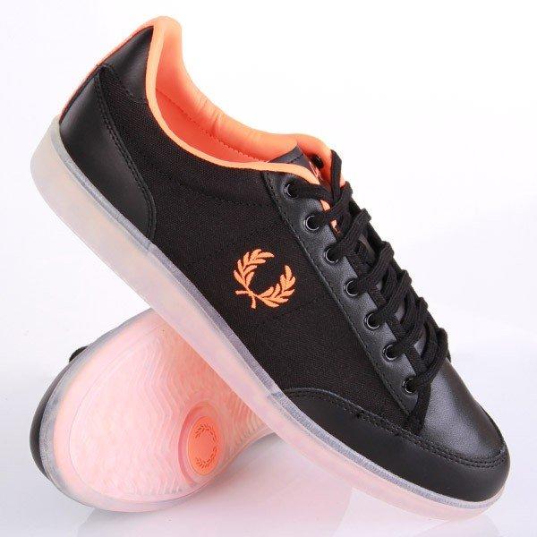 Fred Perry Soho Hopman Leather Nylon Black Schuhe nur 51,90EUR