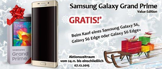 Samsung S6 Edge 32 GB (Möglich für: 342,15€!) + Samsung Galaxy Grand Prime VE (+ 86,85€ in Superpunkten[Rakuten])