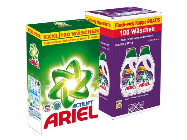Ariel Pulver/Gel 100 Wäschen (ab 26.11.15)