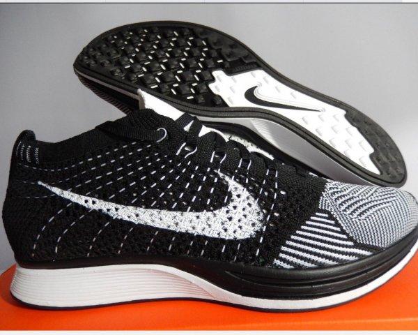 Nike Flyknit Racer Black White 2013 Online