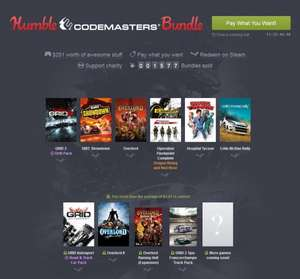 [Steam] Humble Codemasters Bundle - $1/0,95€ für GRID 2 + GRID 2 Drift Pack, DiRT Showdown, Overlord™, Operation Flashpoint Complete, Hospital Tycoon, Colin McRae Rally