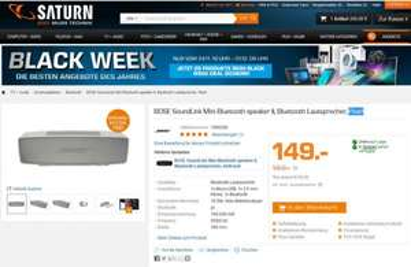 BOSE SoundLink Mini Bluetooth speaker II 149,00 Euro inkl. Versand