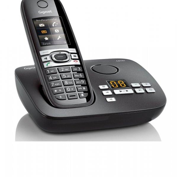 Gigaset C610A, Festnetztelefon, mit Anrufbeantworter, DECTGAP, Schwarz/Weiß