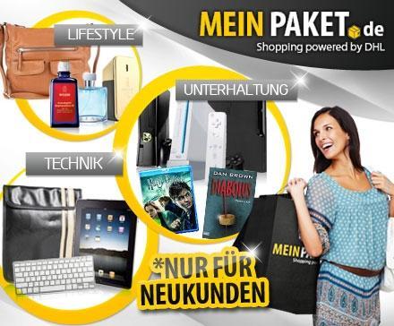 MeinPaket.de Gutschein für 14,99 € statt 30 € nur für Neukunden @Dailydeal.de