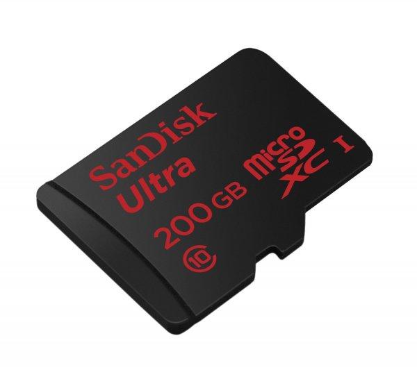 SanDisk Ultra 200GB microSDXC bis zu 90 MB/Sek, Class 10 bei Amazon heute für 84,90€
