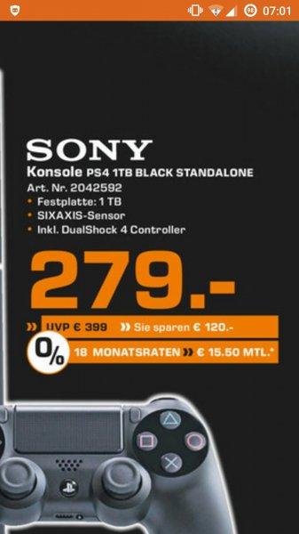 [Saturn Mainz und Wiesbaden] PS4 1TB Black Standalone für 279 €