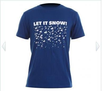 WH 1 LET IT SNOW T-Shirt royal, warehouse-one.de