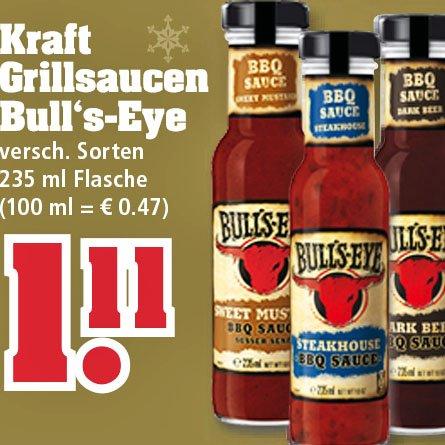 [trinkgut] Leckere Bull's-Eye BBQ Grillsaucen für nur 1,11 €