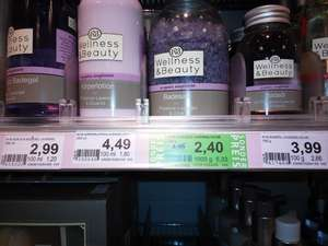 Wellness & Beauty Badesalz Lavendel Olive 450g für 0,90€ statt 4,99€ (Green Label + App-Coupon)