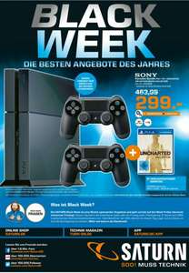 PS4 Bundle 1TB 2 Controller  + UNCHARTED THE NATHAN DARKE COLLECTION (Lokal Saturn Leverkusen)