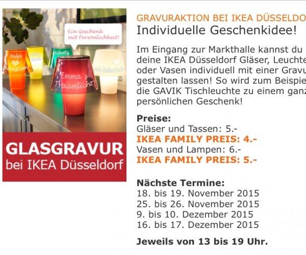 [IKEA DÜSSELDORF] Glas Gravuraktion 18-19.11 25-26.11 9-10.12 16-17.12