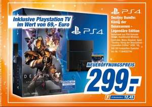 (HEM Expert) PlayStation 4 500GB, Destiny Bundle König der Besessenen inkl. PlayStation TV
