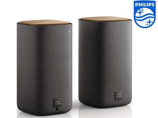 (iBood.de) Philips Fidelio E2 (BTS7000/10) E2 Kabellose Stereo-Lautsprecher (100 Watt RMS, Bluetooth, aptX, NFC, Dolby Digital) schwarz