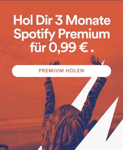 3 Monate Spotify Premium für 0.99€ für Neukunden