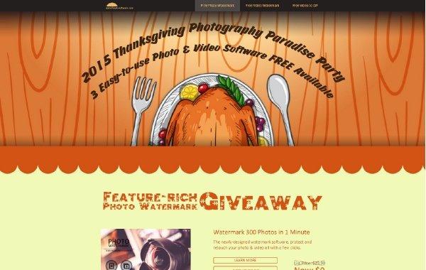 Kostenlose Thanksgiving-Software-Bundle - Foto-und Video-Software