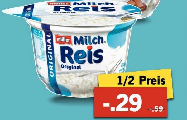 Lidl Müller Milchreis für 0,29 Euro - 1/2 Preis ab 30.11.2015