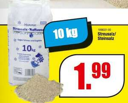 [LINDEN/ROSENHEIM] Schleudermaxx: 10kg Streusalz/Steinsalz für 1,99€ (=0,20€/KG)