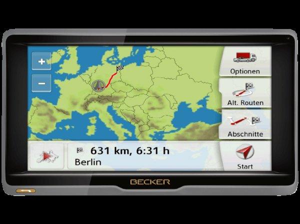 [Technomarkt] Becker Ready 6 EU Jubiläums Edition Navi 6'' gratis Blitzwarner für 1 Jahr (Anthrazit, Schwarz) lebenslange Updates