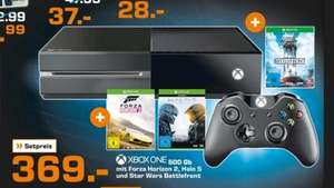 [LOKAL - Saturn Kiel] XBox One 500GB + Forza 2 + Halo 5 + Starwars Battlefront - 369€
