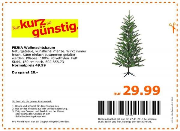 [lokal IKEA-Berlin] Family-Angebot *NUR* am 27.11.: 180cm künstlicher Weihnachtsbaum für 29,99€