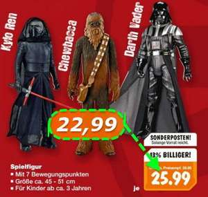 [?Bundesweit? Kaufland] Star Wars 45-51 cm Figuren