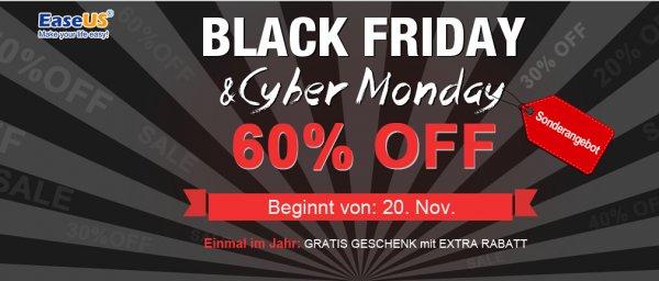 2015 Black Friday & Cyber monday Sonderangebot- EaseUS Software bis auf 60% OFF